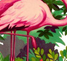 Retro Pink Flamingos Sticker