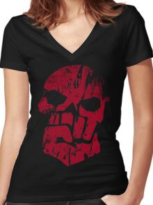 Blood Pack Veteran Women's Fitted V-Neck T-Shirt