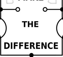Differential Amplifier - Make the Difference! Sticker