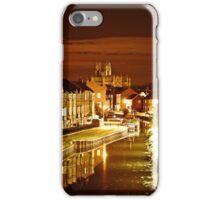 beverley minster at night iPhone Case/Skin