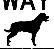 One Way Sticker