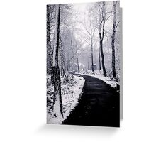 Snow Covered Footpath Greeting Card