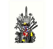 Kingdom Hearts: Game of Hearts Color Art Print