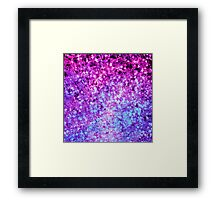 RADIANT ORCHID GALAXY Colorful Plum Purple Royal Blue Elegant Starry Galactic Print Abstract Painting Framed Print