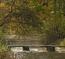 Footbridge over Malham Beck by Nick Jenkins