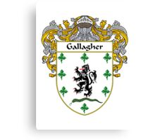 Gallagher Coat of Arms/Family Crest Canvas Print