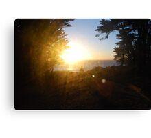 Sunburst ripples Canvas Print