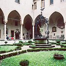 Well in centre of cloisters St Anthonies Cathedral Padua Italy 198404170006  by Fred Mitchell