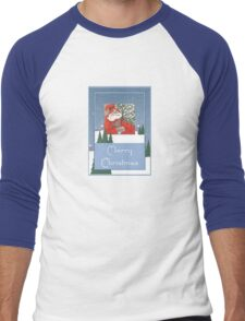 A Traditional Merry Christmas Greeting Men's Baseball ¾ T-Shirt