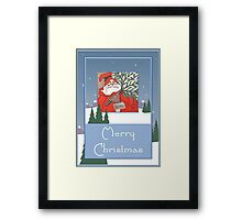 A Traditional Merry Christmas Greeting Framed Print