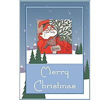 A Traditional Merry Christmas Greeting Photographic Print