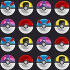 Pokemon Poké Balls by Jerome Entredicho