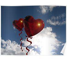 Balloon hearts  Poster