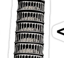 Leaning Tower of Italics Sticker
