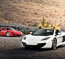 F40 and MP4-12C Spider by Gil Folk