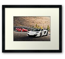 F40 and MP4-12C Spider Framed Print
