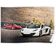 F40 and MP4-12C Spider Poster