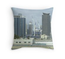 Melbourne's Tall Buildings from a bus window. Throw Pillow