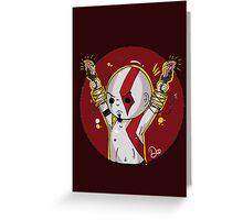 God of War- Kratos. Greeting Card