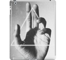 hand + triangle iPad Case/Skin