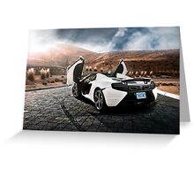 McLaren MP4-12C Spider Greeting Card