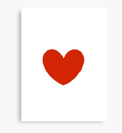 Lovely Heart, Imperfect Heart Canvas Print
