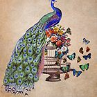 Vintage Peacock Beauty by Bluepress