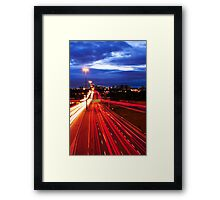 Night traffic in Toronto Framed Print