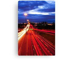 Night traffic in Toronto Canvas Print