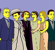 Downton Abbey - Cast of Eight by Donna Huntriss