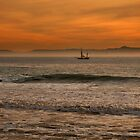 Ship In The Sunset by K D Graves Photography