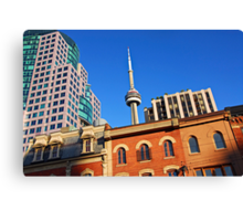 Old and new Toronto Canvas Print