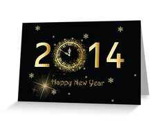 2014 Happy New Year Greeting Card