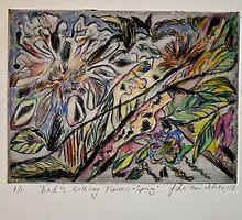 Dad's Birthday Flowers - Spring by Julie-Ann Vellios