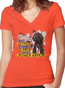 My Other T-Shirt Is Power Armor 3 Women's Fitted V-Neck T-Shirt