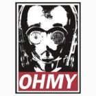C3PO - OH MY (shirts stickers) by Surpryse