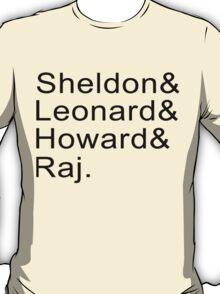Sheldon & Leonard & Howard and Raj T-Shirt