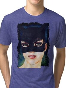 Feline Grunge Tri-blend T-Shirt