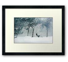 winter poem.. Framed Print