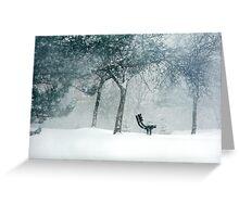 winter poem.. Greeting Card