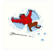 """I Wish I Were"" Snow Devil Art Print"