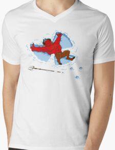 """""""I Wish I Were"""" Snow Devil Mens V-Neck T-Shirt"""