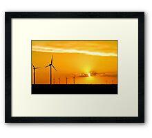 Wind Farm at Sunset Framed Print