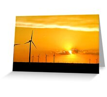 Wind Farm at Sunset Greeting Card