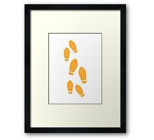 Orange Dance Steps Framed Print