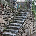 Stone Slab Steps by phil decocco