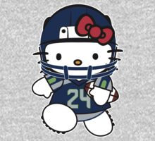 Hello Kitty Loves Marshawn Lynch & The Seattle Seahawks! by endlessimages