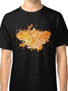 Hyrule Crest Splat (Dark) Classic T-Shirt