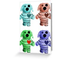 Colorful Zombie Dogs Greeting Card