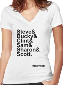 Team Captain Women's Fitted V-Neck T-Shirt